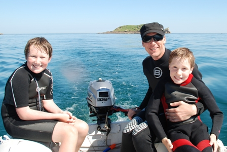 N, R and L in dinghy